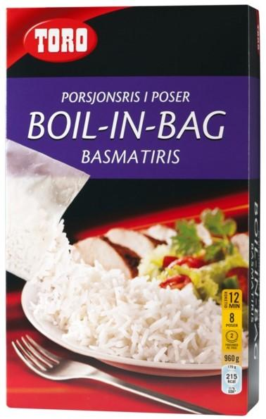Toro Basmatiris Boil In Bag 8 poser 960 g