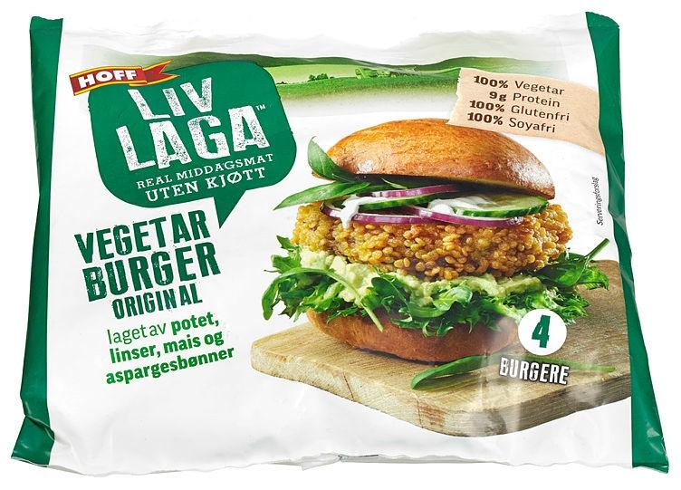 Hoff Vegetarburger Original 4 stk, 500 g
