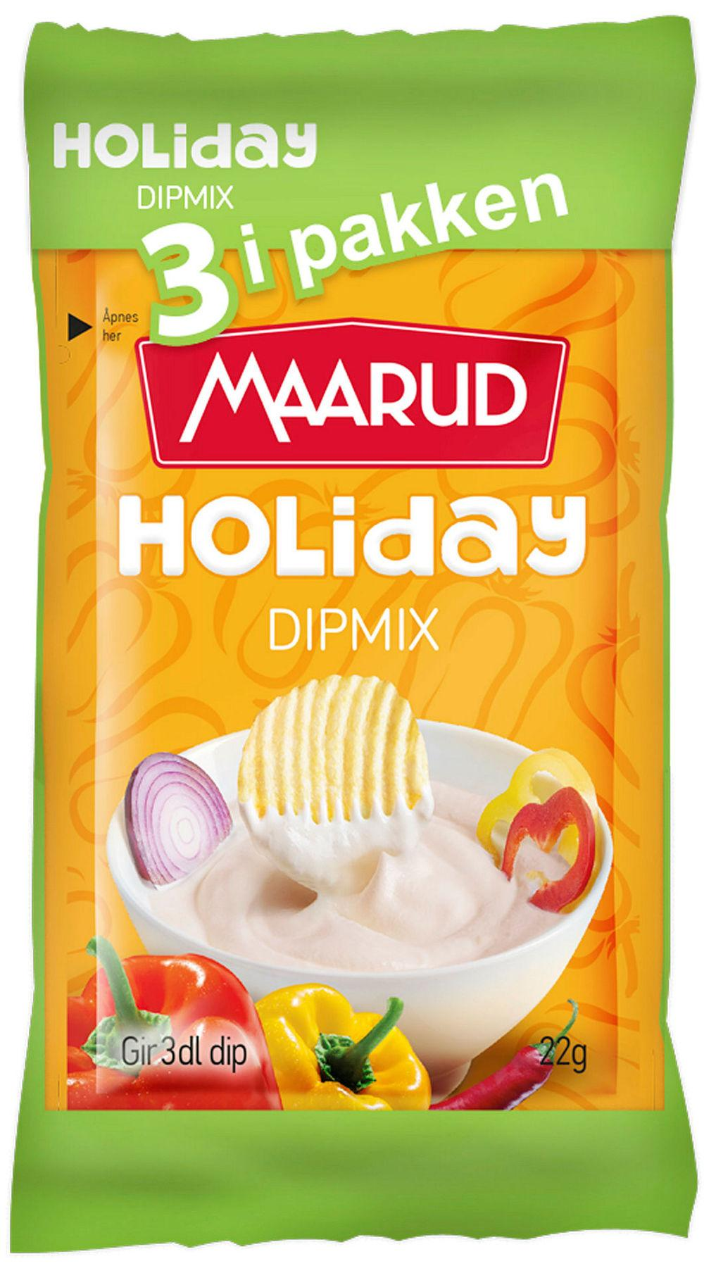 Dipmix Holiday, 3-pakk, 66 g