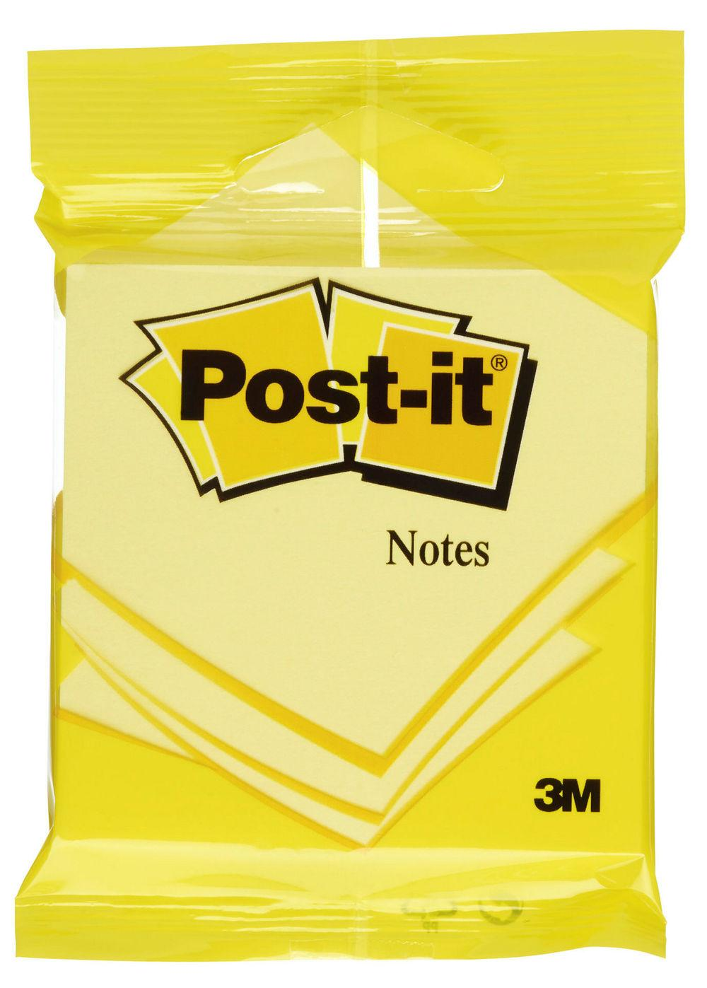 Post-It Blokk Gul 76x76mm, 1 stk