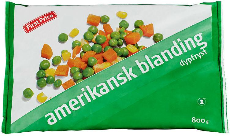 Amerikansk Blanding 800g First Price